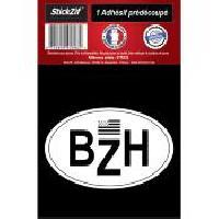 Stickers Multi-couleurs 1 Autocollant Bzh Drapeau Breton