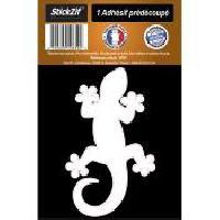 Stickers Multi-couleurs 1 Autocollant Gecko Blanc Generique