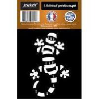 Stickers Multi-couleurs 1 Autocollant Gecko Raye Noir -BLANC
