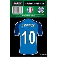 Stickers Multi-couleurs 1 Autocollant Maillot De Foot France Generique