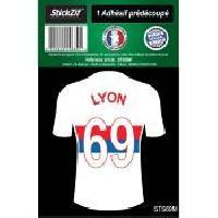 Stickers Multi-couleurs 1 Autocollant Maillot De Foot Lyon 69