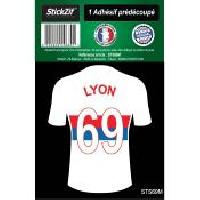 Stickers Multi-couleurs 1 Autocollant Maillot De Foot Lyon 69 Generique