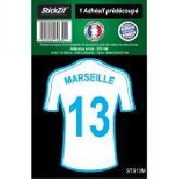 Stickers Multi-couleurs 1 Autocollant Maillot De Foot Marseille 13 Generique