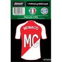 Stickers Multi-couleurs 1 Autocollant Maillot De Foot Monaco Generique