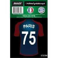Stickers Multi-couleurs 1 Autocollant Maillot De Foot Paris 75