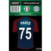 Stickers Multi-couleurs 1 Autocollant Maillot De Foot Paris 75 Generique