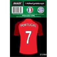 Stickers Multi-couleurs 1 Autocollant Maillot De Foot Portugal Generique