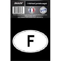 Stickers Multi-couleurs 1 Autocollant Ovale F