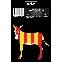 Stickers Multi-couleurs 1 Sticker Ane Catalan