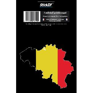 Stickers Multi-couleurs 1 Sticker Belgique - ADNAuto