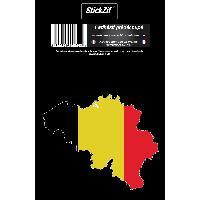 Stickers Multi-couleurs 1 Sticker Belgique Generique