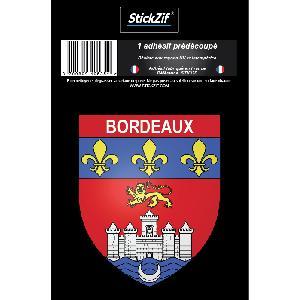 Stickers Multi-couleurs 1 Sticker Blason Bordeaux Generique