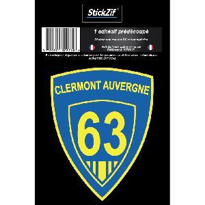 Stickers Multi-couleurs 1 Sticker Blason Clermont-Auvergne - ADNAuto