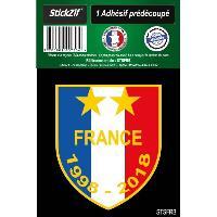 Stickers Multi-couleurs 1 Sticker Blason FRANCE 1998-2018 Generique