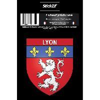 Stickers Multi-couleurs 1 Sticker Blason Lyon - ADNAuto