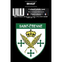 Stickers Multi-couleurs 1 Sticker Blason Saint-Etienne - ADNAuto