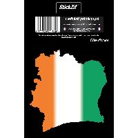 Stickers Multi-couleurs 1 Sticker Cote Ivoire - STP6C