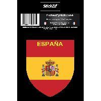 Stickers Multi-couleurs 1 Sticker Espagne - STP7B Generique