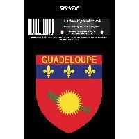 Stickers Multi-couleurs 1 Sticker Guadeloupe - STR971B - ADNAuto