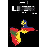 Stickers Multi-couleurs 1 Sticker Guadeloupe STR971C