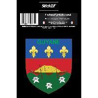 Stickers Multi-couleurs 1 Sticker Guyane - STR973B - ADNAuto