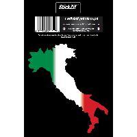Stickers Multi-couleurs 1 Sticker Italie - STP4C - ADNAuto