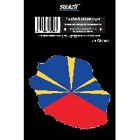 Stickers Multi-couleurs 1 Sticker La Reunion - STR974C - ADNAuto