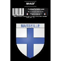 Stickers Multi-couleurs 1 Sticker Marseille - ADNAuto