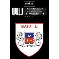 Stickers Multi-couleurs 1 Sticker Mayotte - STR976B
