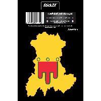 Stickers Multi-couleurs 1 Sticker Region Auvergne 2 - ADNAuto