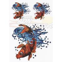 Stickers Multi-couleurs Adhesif -Koi- Ed Hardy