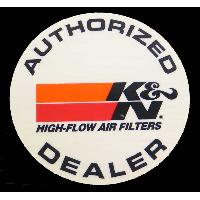 Stickers Multi-couleurs Adhesif Authorized Dealer KN - rond - 12cm - 89-0050 K&N