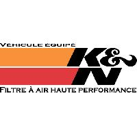 Stickers Multi-couleurs Adhesif KN - 5x11cm - autocollantKN K&N