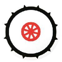 Stickers Multi-couleurs Disque 90 pneu cloute adhesif Generique