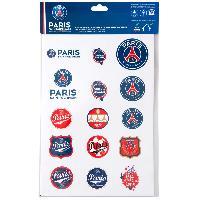 Stickers Multi-couleurs Planche A4 autocollants logos PSG Paris Saint Germain