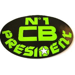 Stickers Multi-couleurs Sticker officiel President - N1 CB