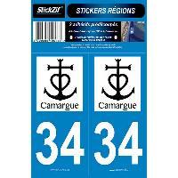 Stickers Run-R Stickers 2 Adhesifs Region Departement 34 CAMARGUE