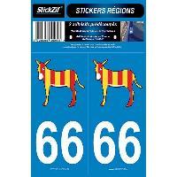 Stickers Run-R Stickers 2 Adhesifs Region Departement 66 ANE CATALOGNE