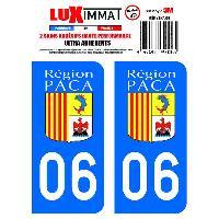 Stickers Run-R Stickers 2 Adhesifs Resine Premium Departement 06
