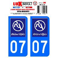 Stickers Run-R Stickers 2 Adhesifs Resine Premium Departement 07