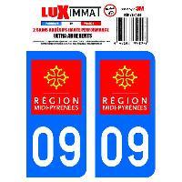 Stickers Run-R Stickers 2 Adhesifs Resine Premium Departement 09