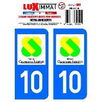 Stickers Run-R Stickers 2 Adhesifs Resine Premium Departement 10