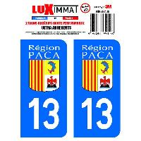 Stickers Run-R Stickers 2 Adhesifs Resine Premium Departement 13