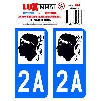 Stickers Run-R Stickers 2 Adhesifs Resine Premium Departement 2A