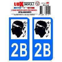 Stickers Run-R Stickers 2 Adhesifs Resine Premium Departement 2B