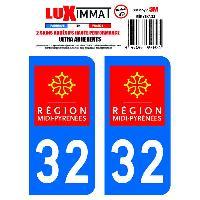 Stickers Run-R Stickers 2 Adhesifs Resine Premium Departement 32