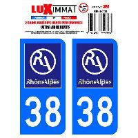 Stickers Run-R Stickers 2 Adhesifs Resine Premium Departement 38