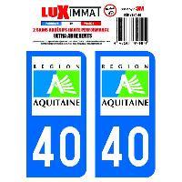 Stickers Run-R Stickers 2 Adhesifs Resine Premium Departement 40