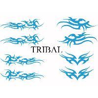 Stickers Tribal - Tattoo Set Adhesifs -ELEMENT TRIBAL- Bleu - Car Deco SM