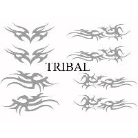 Stickers Tribal - Tattoo Set Adhesifs -ELEMENT TRIBAL- Gris - Car Deco SM - ADNAuto